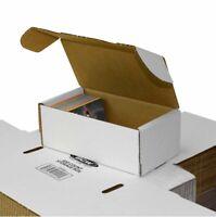 (50) BCW 400 Count White Corrugated Cardboard Baseball Trading Card Storage Box