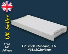 "Grey 1U 19"" Inch Rack Mount plastic case box enclosure ABS"