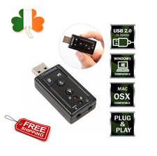 External 7.1 Channel Sound Virtual Audio Sound Card Adapter Mini USB 2.0