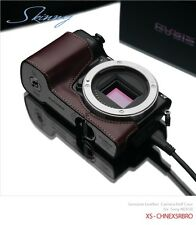 Gariz Leather Half Case XS-CHNEX5RBR for Sony NEX5R NEX-5R Brown