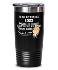 Funny Trump Gift for Boss Tumbler Mug Present for Work Coworker Family - 20oz St