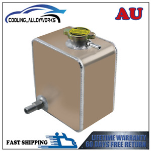 Universal 2.5L Aluminum Coolant Radiator Overflow Recovery Water Bottle Tank AU