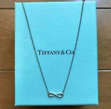 Tiffany & Co. Sterling Infinity Pendant Double Chain Necklace Silver 925 Japan
