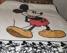 Vintage Reversible Biederlack Disney Mickey Mouse Blanket Throw