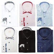 Long Sleeve Fitted No Floral Casual Shirts & Tops for Men