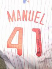 CHARLIE MANUEL-SIGNED PHILADELPHIA  PHILLIES JERSEY-- REPLICA-BLUE SHARPIE-PROOF