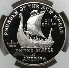 2000 P NGC PF69 Ultra Cameo Leif Ericson Silver Dollar $1 ~ Rare Commemorative
