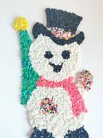 Christmas Snowman Vintage Melted Plastic