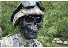 Full Face SKULL Bone Skeleton Halloween Costume Amor siliver black Mask