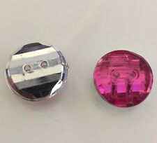 10 X 15mm Faceted Bright Acrylic Rhinestone Buttons - Australian Supplier