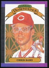 1989 Donruss Diamond Kings #4 Chris Sabo Cincinnati Reds
