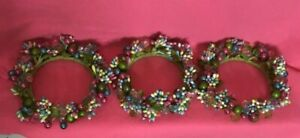 3 Valerie Parr Hill Spring Bloom Pip Berry Candle Rings Pastel Pink Blue Green