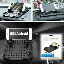 Car Dashboard Smartphone Holder Silicone Bracket Magnetic Charger USB Universal
