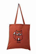 NEW TOTE BAG: FOX, Rusty Red, 100% cotton