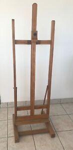 CAVALLETTO IN FAGGIO DA STUDIO VINTAGE  PER PITTORI  BELLE ARTI PITTURA GUARDA