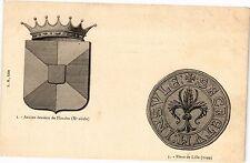 CPA Ancien écusson de Flandre-Fleur de Lille (188248)