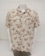Columbia Sportswear Light Brown 100% Cotton Fish & Seaweed Patterned Shirt Large