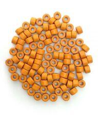 Keramik Zylinder, orange, 6mm, 100 Stück, Keramikperlen