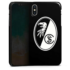 Apple iPhone X Premium Case Cover - SC Freiburg Wappen schwarz