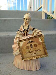 Ancienne figurine publicitaire en plâtre début XXème Cognac Gautier Frères