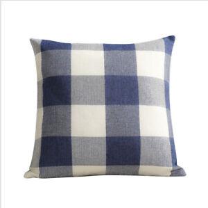 "Set Of 2 Throw Pillow Case Cover Cushion Case 18"" x 18""  100% cotton Plaid"