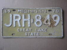 1970 MICHIGAN LICENSE PLATE EXPIRED JRH 849