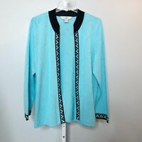 Ming Wang Large Cardigan Sweater Acrylic Open Front Spring