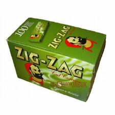 100 Zig Zag Green - 70mm - Single Wide Rolling Papers - Full Box