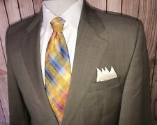 Lauren Ralph Lauren Mens Tan Blazer Sport Coat Sz 40R Glen Plaid Wool Cashmere