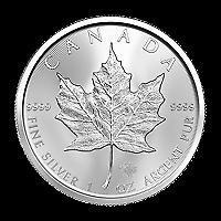 Uncirculated 2017 Canadian Silver Maple Leaf SKU #12029 1 oz