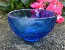 Blue, Faceted Glass Open Salt Dip, Cellar, Dish w/Honeycomb Pattern!