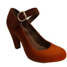 """Melissa shoes size 6 EU 39. Brown and orange ombre effect. Ankle strap. Heel 3""""."""