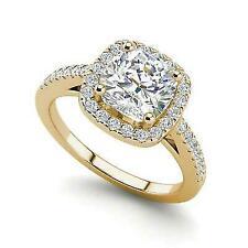 3.2 Carat Round Cut Diamond Engagement Ring Vs2 F