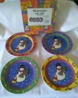 Sango The Sweet Shoppe Salad Plates (4) Christmas 3041-06 Designed by Sue Zipkin