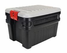 Rubbermaid Rmap240001 ActionPacker Storage Tote, 24 Gallon, Black