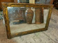 Antique Wood Frame Mirror - Gold Gilded Frame - Nice