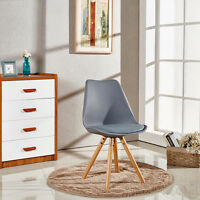 2x Tower Piramide Dining Chair Sophie Scandinavian White Black Grey Red ABS Wood