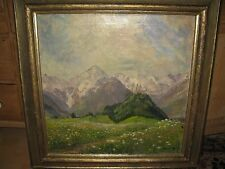 NICKISCH Alfred, *1872  Blumenwiese vor Allgäuer Berge