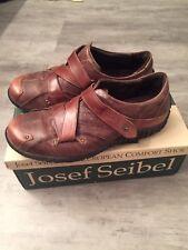 Women's Josef Seibel Sophia Comfort Shoe Dress Casual Euro 37 Brown Leather