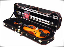 New Student 4/4 Solid Wood Violin+Bow+Limited Wooden Case+Rosin+Free String Set