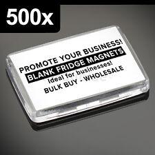 500x Premium Quality Clear Acrylic Blank Photo Fridge Magnets 50 x 35 mm