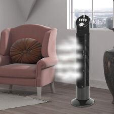 Säulen Ventilator Kühler Wohnraum Anlage Timer Klima Gebläse schwarz 3-Stufen