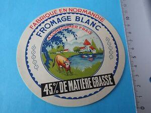 G559 Etiquette de fromage blanc fabriqué en Normandie