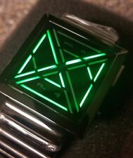 Kisai X LED Watch - Black and Green