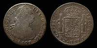 pci1273) SPAIN Carlo IV 8 Reales 1807 Messico T.H. Toned old collection