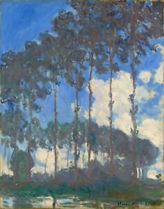 """CLAUDE MONET Art Poster or Canvas Print """"Poplars on the Epte"""""""