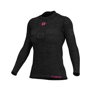 Ale CYCLING Women baselayer long sleeve jersey Seamless Wool Size XS/S|BRAND NEW