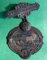 1895 Knights Templar Pinback 26th Triennial Lewiston Main Commandery