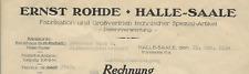 46/602 RECHNUNG ERNST ROHDE HALLE SAALE PATENTVERWERTUNG nach PLESSA 1934