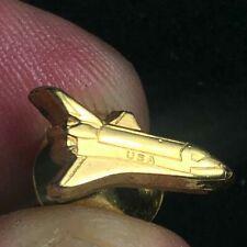 Vintage NASA Space Shuttle Tie Tac / Lapel Pin / Hat Pin Gold-Tone